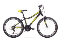 """Romet rower dziecięcy Rambler JR 24"""" czarny-żółty S 12"""" model 2017"""