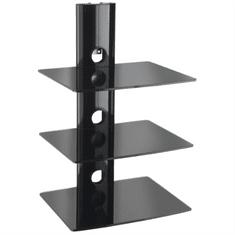 VonHaus sistem steklenih polic za A/V opremo, trinadstropni