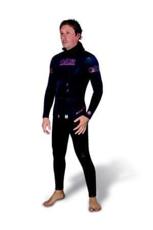 Oblek dvoudílný neoprénový na freediving Bifoblack 5 mm, Omer, 3