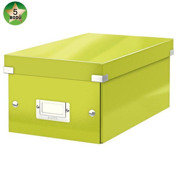 Krabice CLICK-N-STORE na DVD, zelená