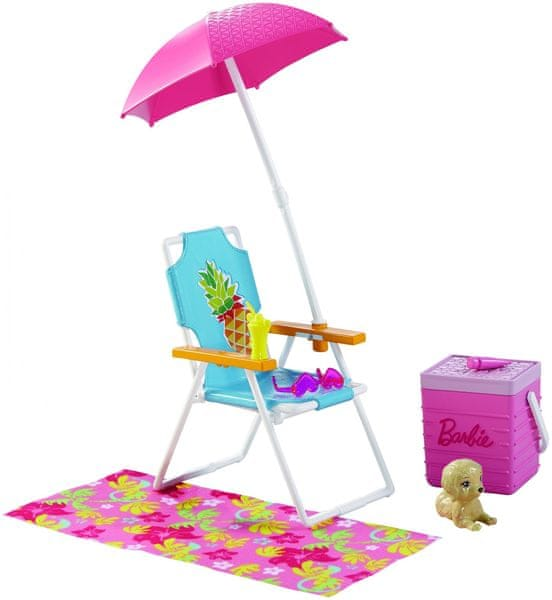 Mattel Barbie Nábytek a doplňky Piknik na pláži