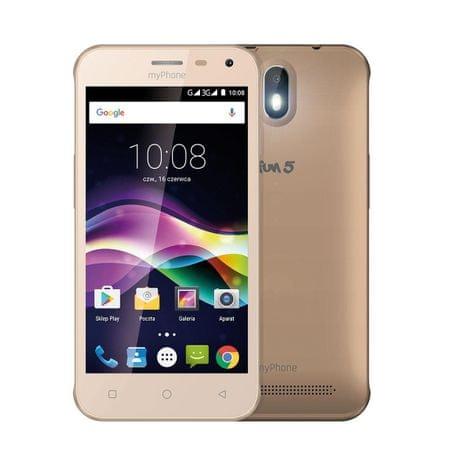 myPhone Fun 5, Dual SIM, zlatý