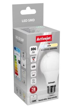 ActiveJet LED žarnica, 10W, E27, topla svetloba, bučka