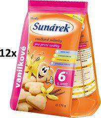 Sunárek Vanilkové sušenky pro první zoubky 12x175g