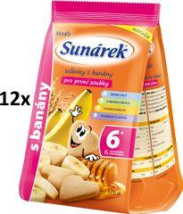 Sunárek Sušenky s banány pro první zoubky 12x175g