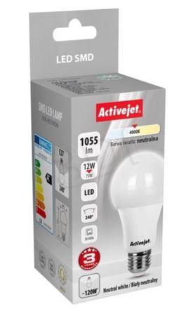 ActiveJet LED žarnica, 12W, E27, nevtralno bela, bučka