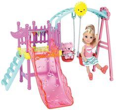 Mattel Barbie Víla Chelsea a doplnky hojdačka