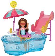Mattel Barbie Víla Chelsea a doplnky bazén