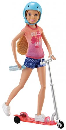 Mattel Barbie Stacie a Skůtr