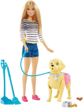 Mattel Barbie Precházka so psíkom