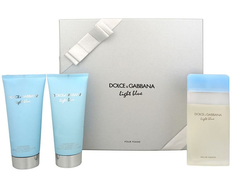 Dolce & Gabbana Light Blue - EDT 100 ml + tělový krém 100 ml + sprchový gel 100 ml