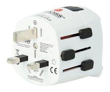 Skross World PRO Light Utazó adapter, Fehér