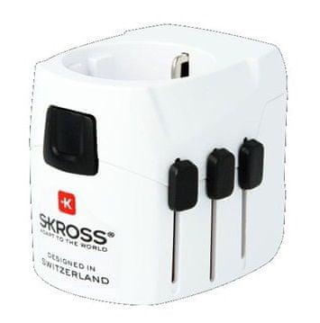 Skross Cestovný adaptér PRO Light USB, biela