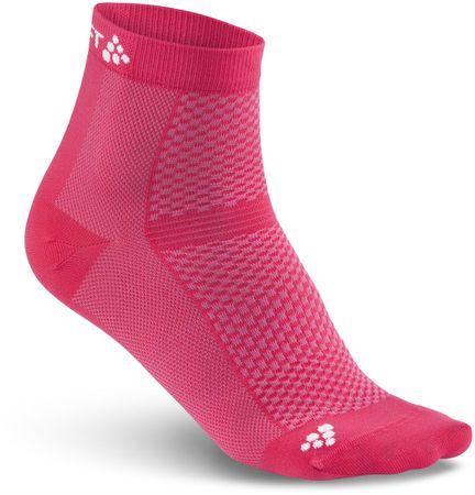 Craft športne nogavice Cool Mid, roza, 2 para, 40-42