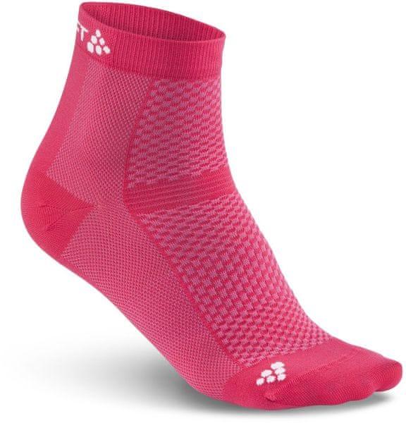 Craft Ponožky Cool Mid 2-pack Růžová 37-39