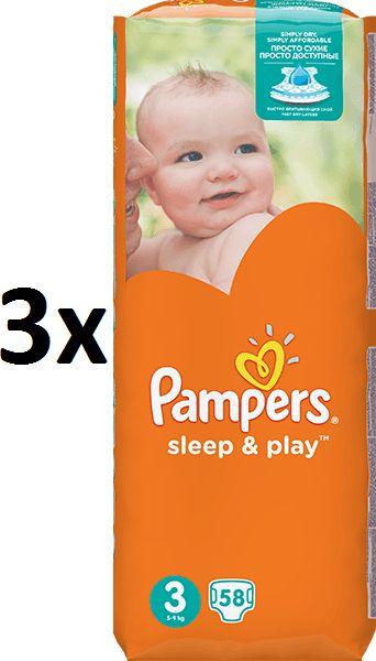 Pampers Pleny Sleep&Play Economy 3 Midi - 174 ks
