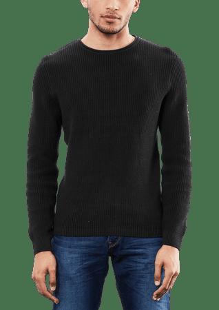 s.Oliver pánský svetr M čierna