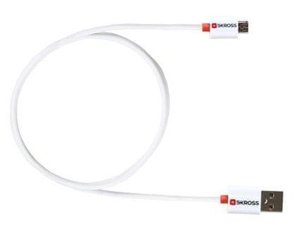 Skross USB kábel Charge'n Sync, biela