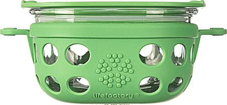 Lifefactory steklena posoda, 240 ml, zelena