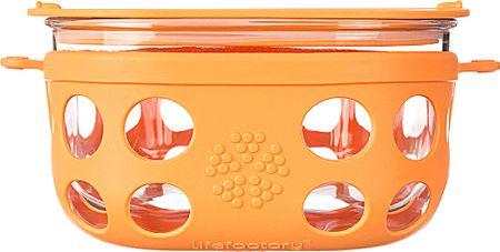 Lifefactory steklena posoda, 240 ml, oranžna