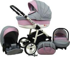 Sun Baby Wózek wielofunkcyjny Alu way 3w1, light pink