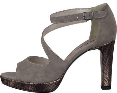 s.Oliver dámske sandály 36 sivá