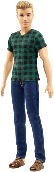 Mattel Barbie Model Ken Checked style