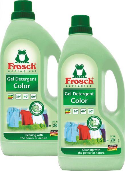 Frosch Eko Prací gel na barevné prádlo 2x1,5 l