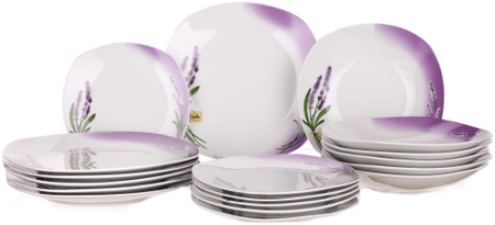 Banquet SquareLavender 17 darabos étkészlet outlet