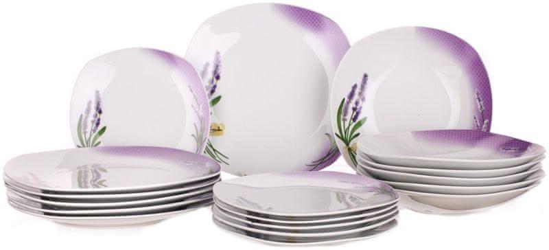 Banquet Sada talířů Square Lavender, 18 ks