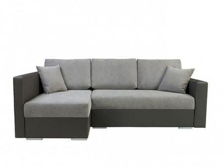 Rohová sedačka KRIS LUX, univerzální roh, šedá