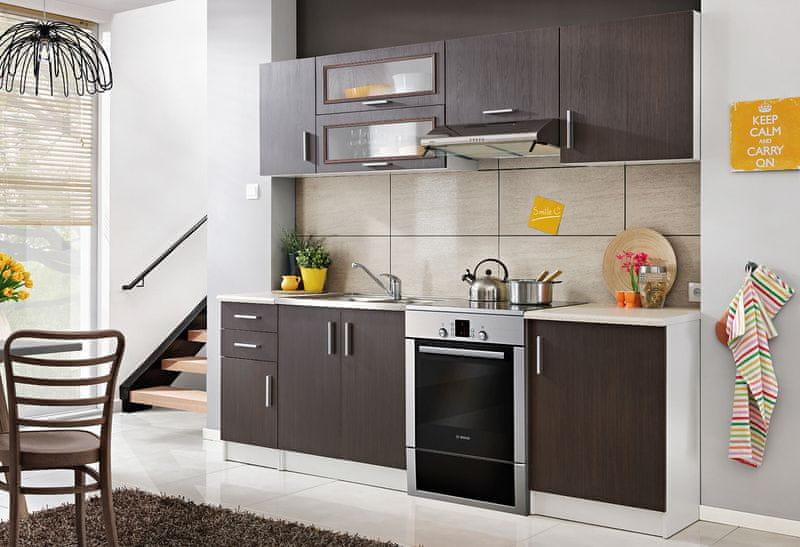 Kuchyně TOSCA 180/240 cm, kaštan legno, WS80GRF/2
