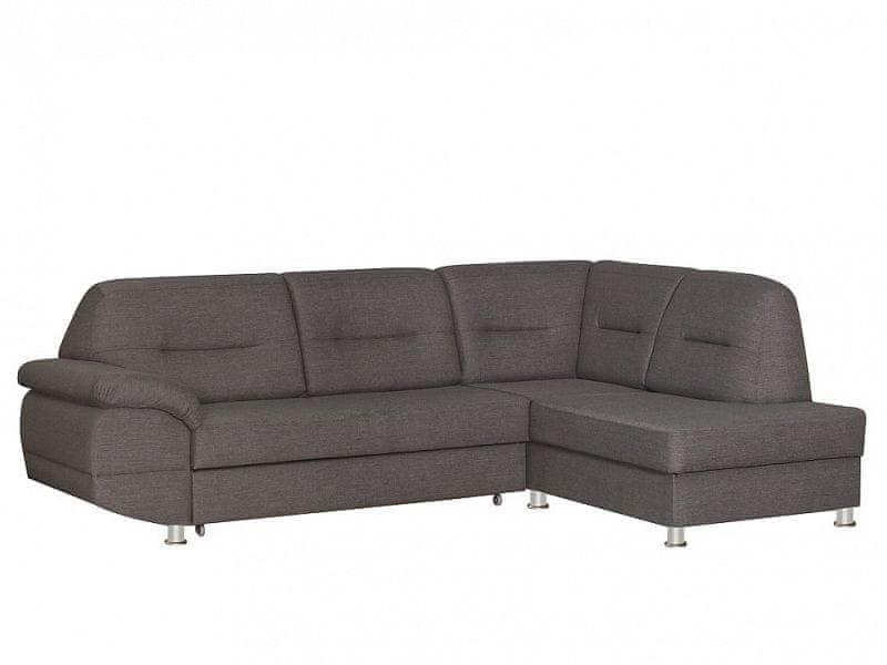 Rohová sedačka ALANIS, pravá, šedá