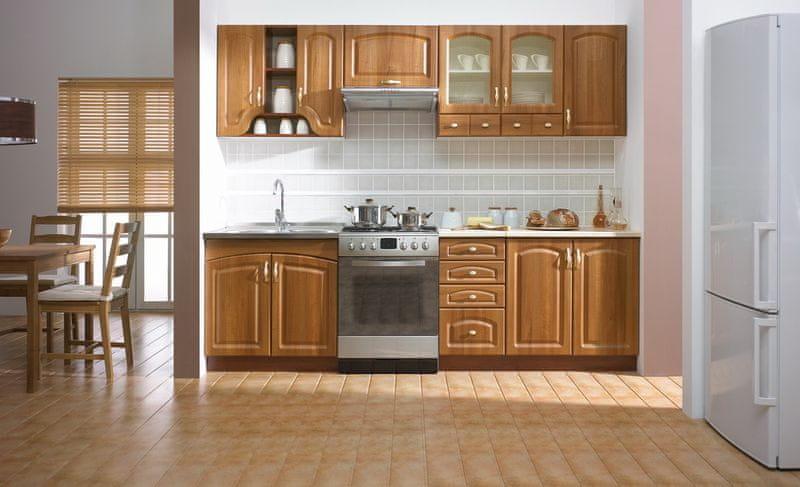 Kuchyně DELICJA RETRO 200/260, cl. ořech amati