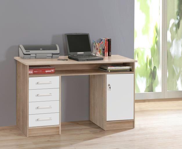 NET106, psací stůl MTT931, dub sonoma/bílá