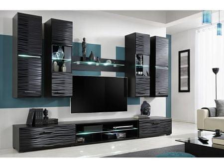 Obývací stěna BLADE 4, černá/sahara