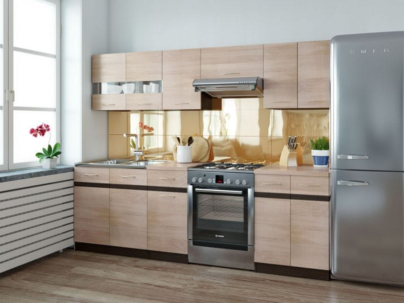 Kuchyně JUNONA LINE 180/240 cm, dub sonoma