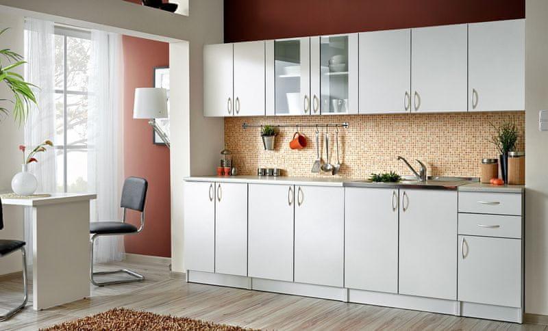 Kuchyně JOLANA II 260 cm, bílá
