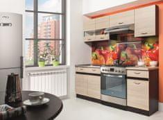 Kuchyně ELIZA 120/180 cm, rijeka světlá