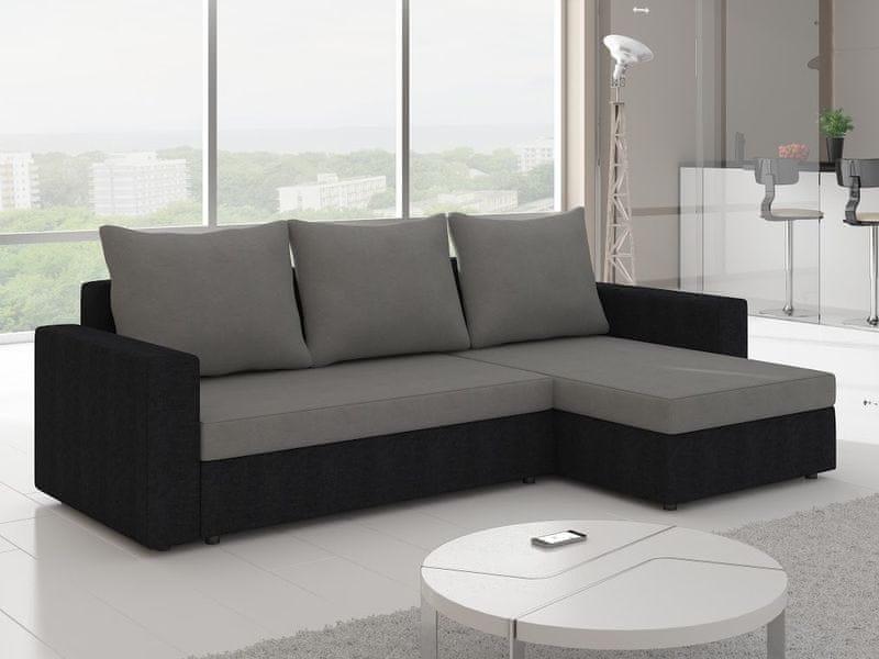 Rohová sedačka LIVIO 9, šedá/černá