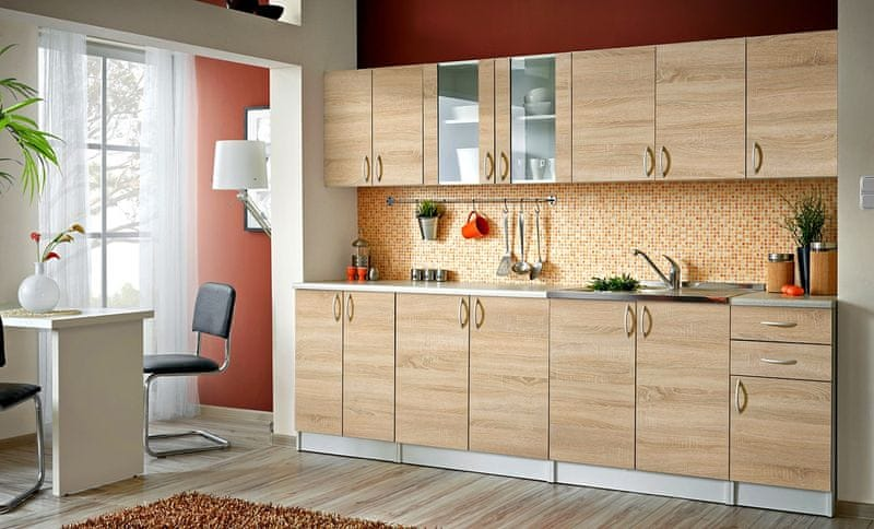 Kuchyně JOLANA II 260 cm, dub sonoma