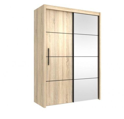 Skříň s posuvnými dveřmi INOVA 150, dub sonoma