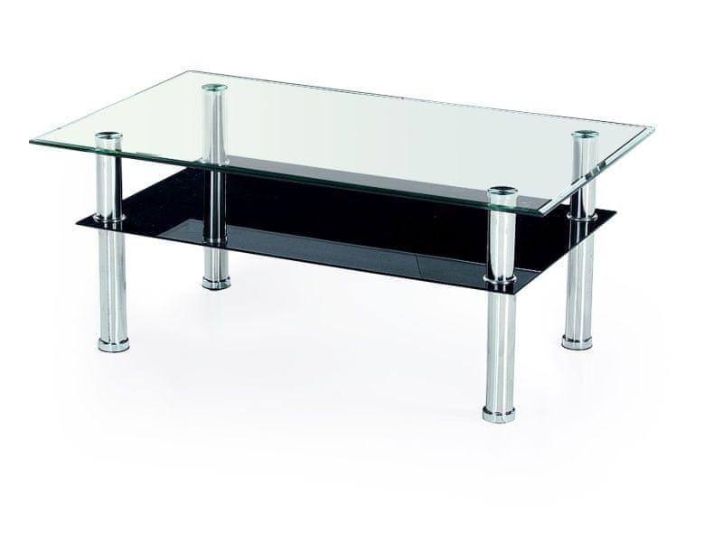 Konferenční stolek JOLANDA, kov/sklo