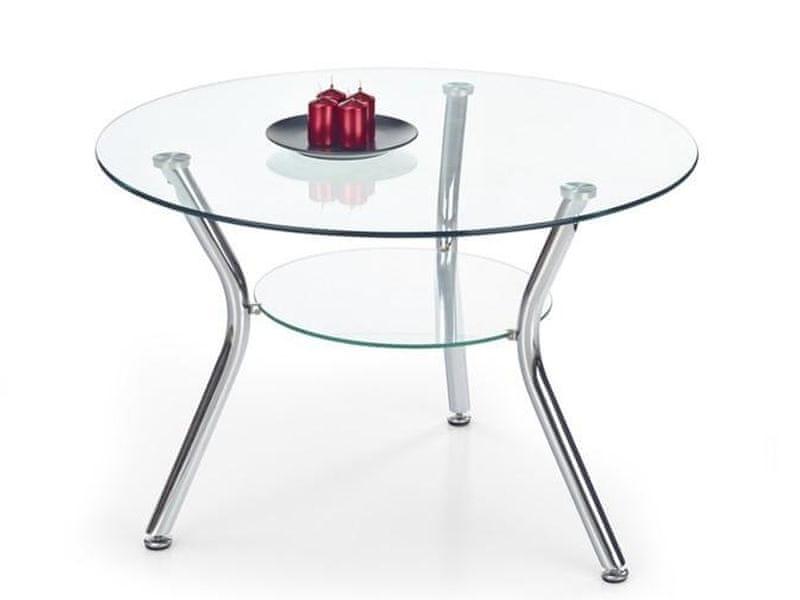 Konferenční stolek BECKY, kov/sklo