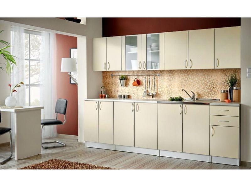 Kuchyně JOLANA 260 cm, vanilka DOPRODEJ