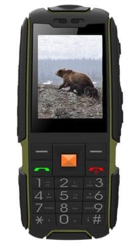 Aligator R20 eXtremo, Dual SIM, černo-zelený