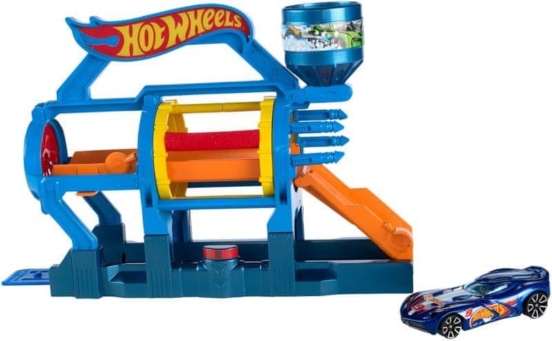 Hot Wheels Skládací herní set turbo myčka aut
