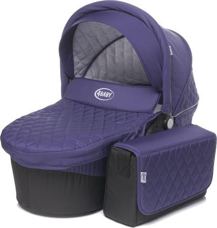 4Baby Atomic Mózeskosár táskával, Purple