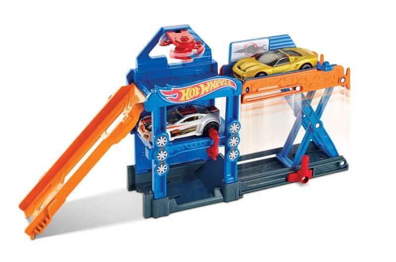 Hot Wheels Skládací herní set robotická opravna