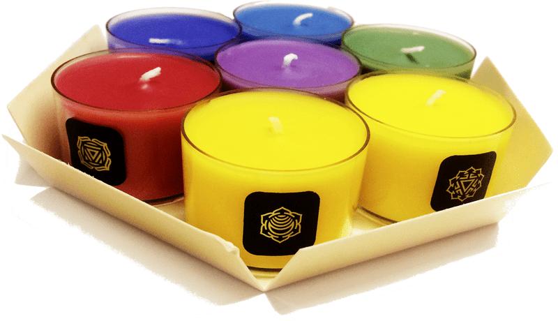 JCandles Čajové svíčky Chakra 7 ks